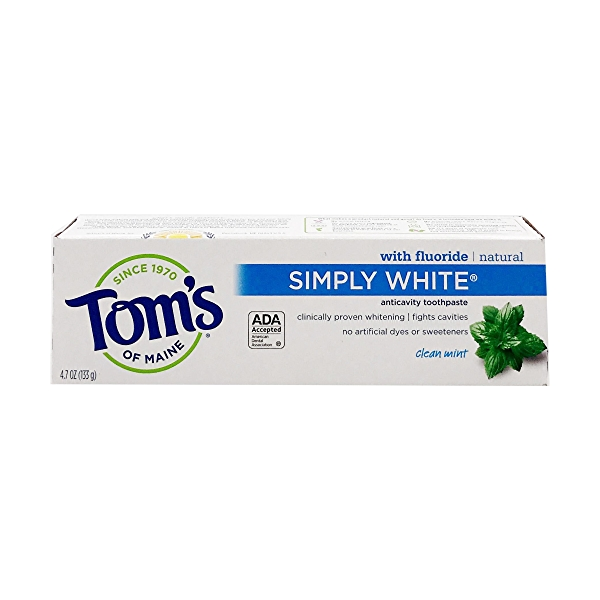 Simply White Clean Mint Toothpaste, 4.7 oz 1