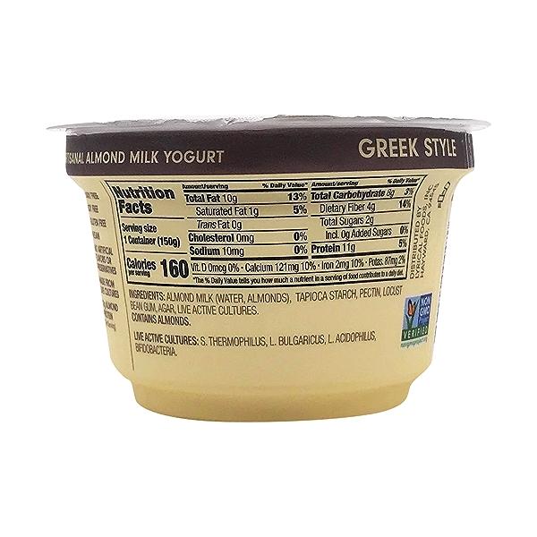 Plain Unsweetened Almond Milk Greek Yogurt, 5.3 oz 2