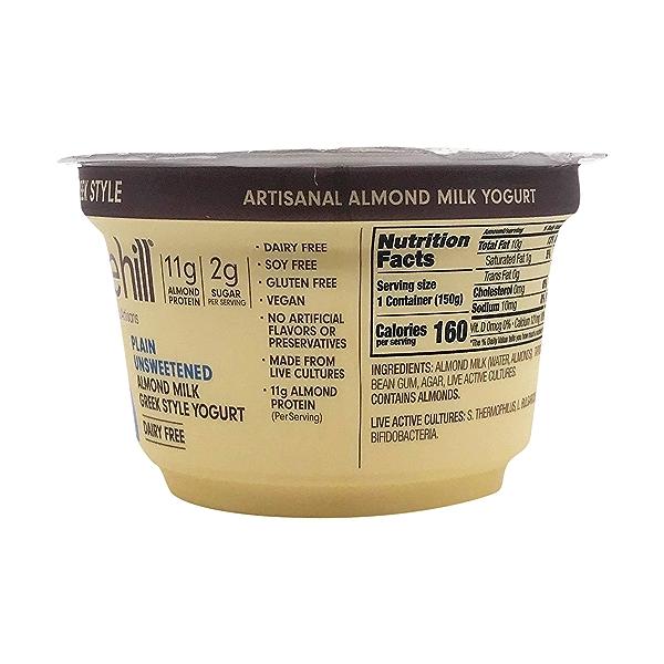 Plain Unsweetened Almond Milk Greek Yogurt, 5.3 oz 3