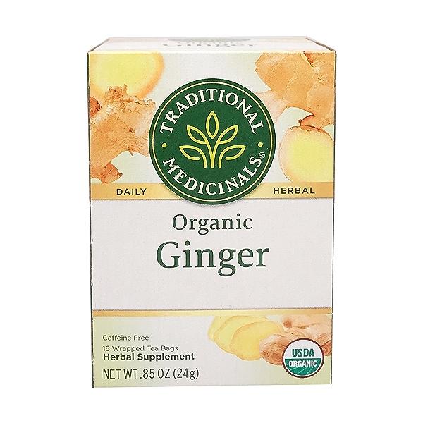 Organic Fair Trade Ginger Herbal Tea, 0.85 oz 1