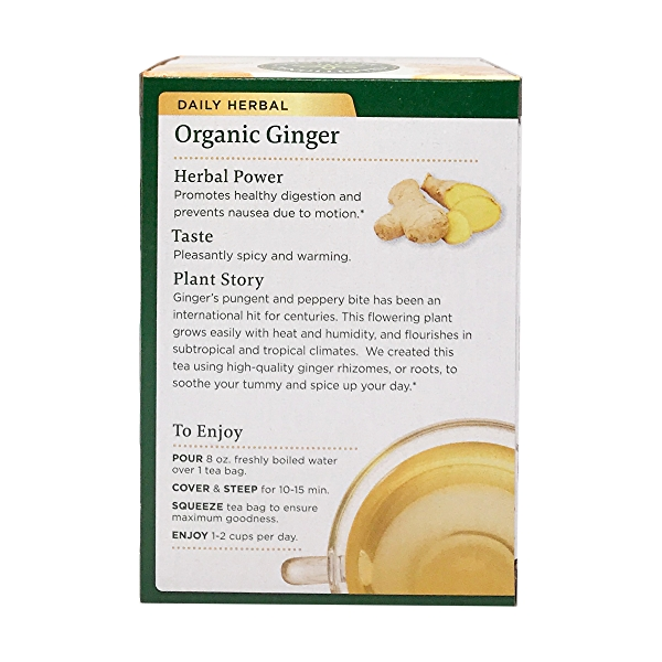 Organic Fair Trade Ginger Herbal Tea, 0.85 oz 2