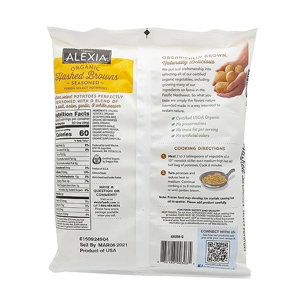 Organic Seasoned Hashed Browns, 16 oz 2