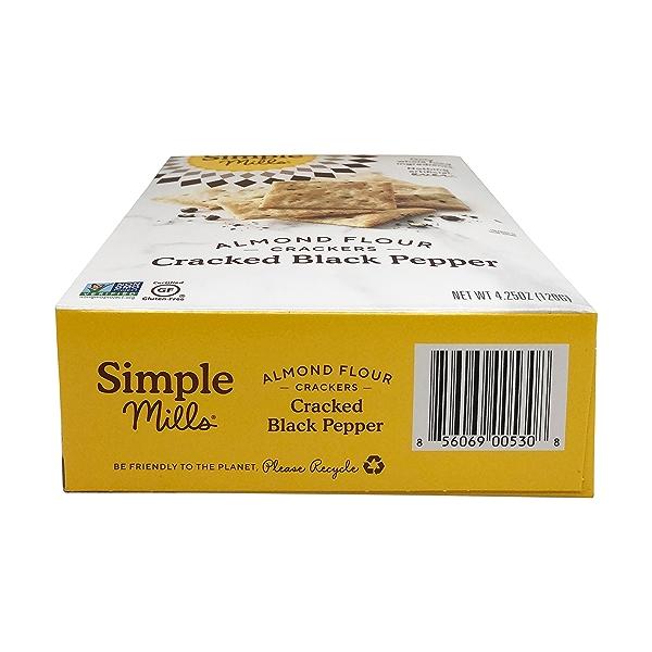 Cracked Black Pepper Almond Flour Crackers, 4.25 oz 6