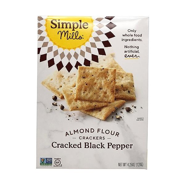 Cracked Black Pepper Almond Flour Crackers, 4.25 oz 1