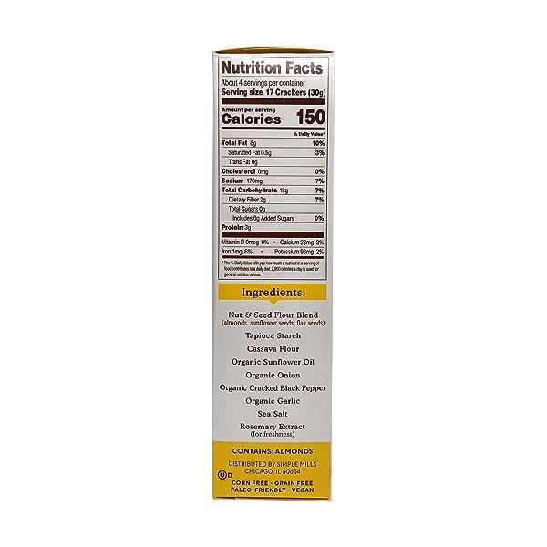 Cracked Black Pepper Almond Flour Crackers, 4.25 oz 3