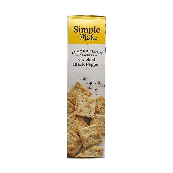 Cracked Black Pepper Almond Flour Crackers, 4.25 oz 4