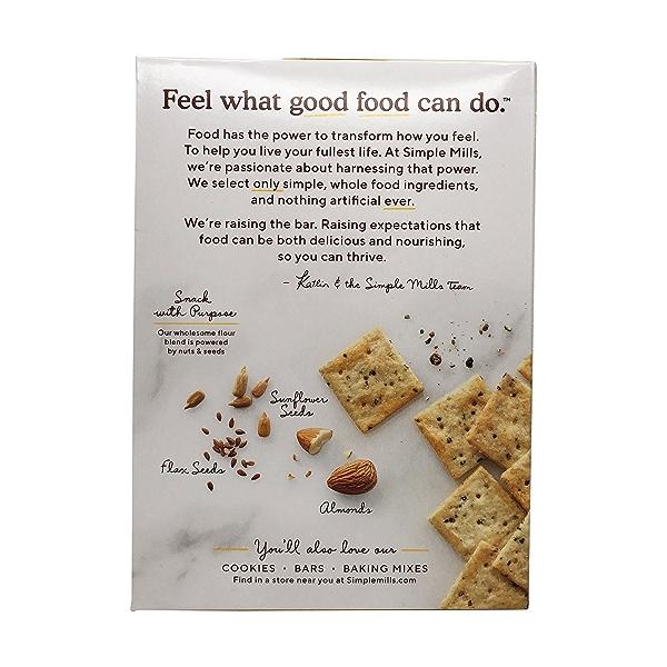 Cracked Black Pepper Almond Flour Crackers, 4.25 oz 2