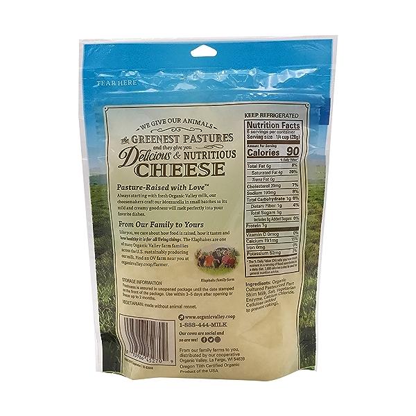 Organic Finely Shredded Mozzarella Cheese 2