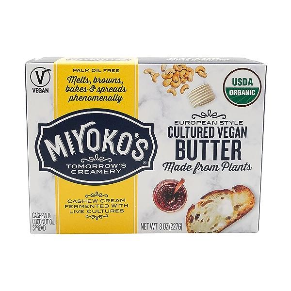 Organic European Cultured Vegan Butter, 8 oz 1