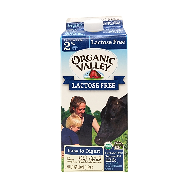 Lactose Free 2% Reduced Fat Milk, 0.5 gallon 1