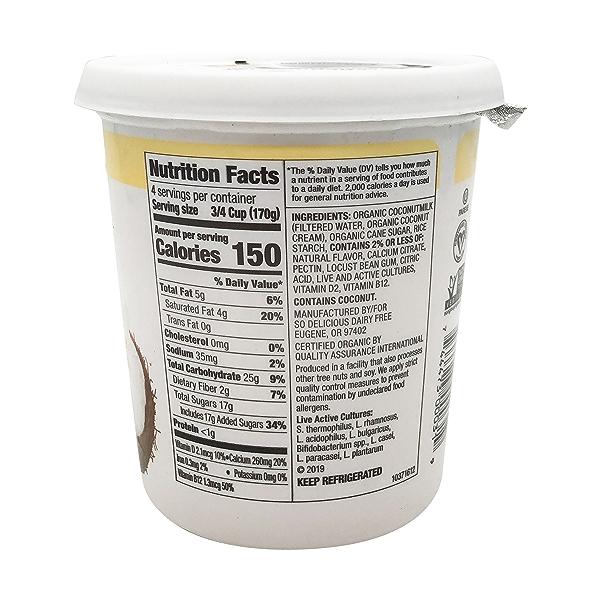 Vanilla Coconutmilk Yogurt Alternative, 24 oz 2