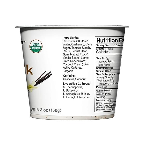 Organic Dairy-Free Vanilla Bean Cashewmilk Yogurt, 5.3 ounce 2