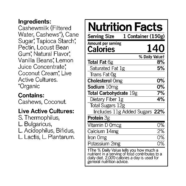 Organic Dairy-Free Vanilla Bean Cashewmilk Yogurt, 5.3 ounce 4