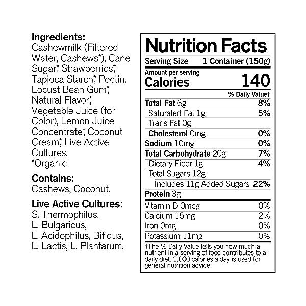 Organic Dairy-Free Strawberry Cashewmilk Yogurt, 5.3 oz 4