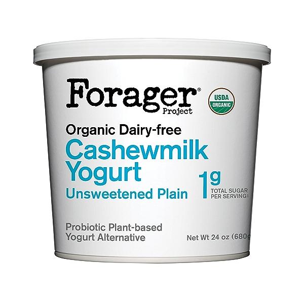 Organic Dairy-free Unsweetened Plain Cashewmilk Yogurt, 24 oz 1