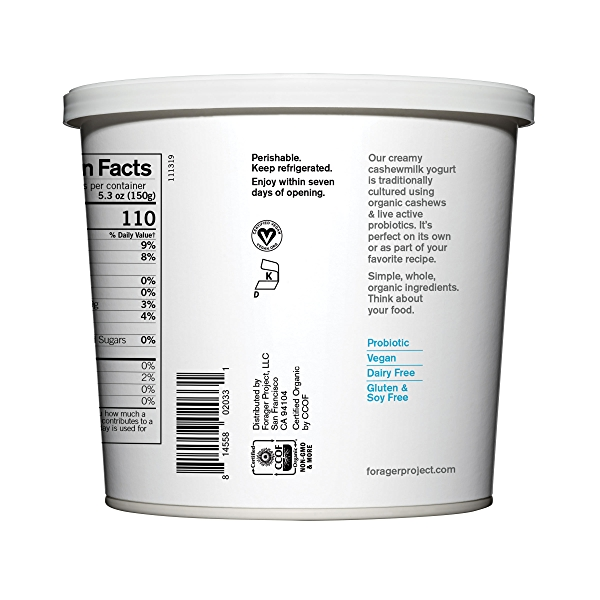 Organic Dairy-free Unsweetened Plain Cashewmilk Yogurt, 24 oz 3