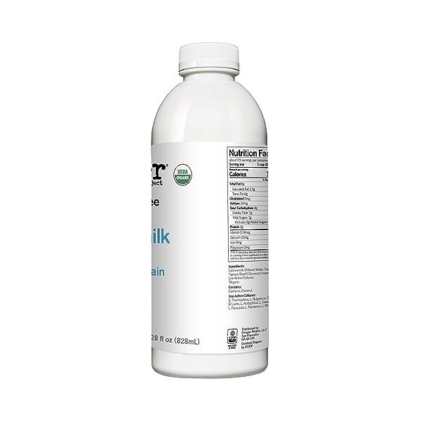Organic Dairy-Free Unsweetened Plain Probiotic Drinkable Cashewmilk Yogurt, 28 fl oz 2