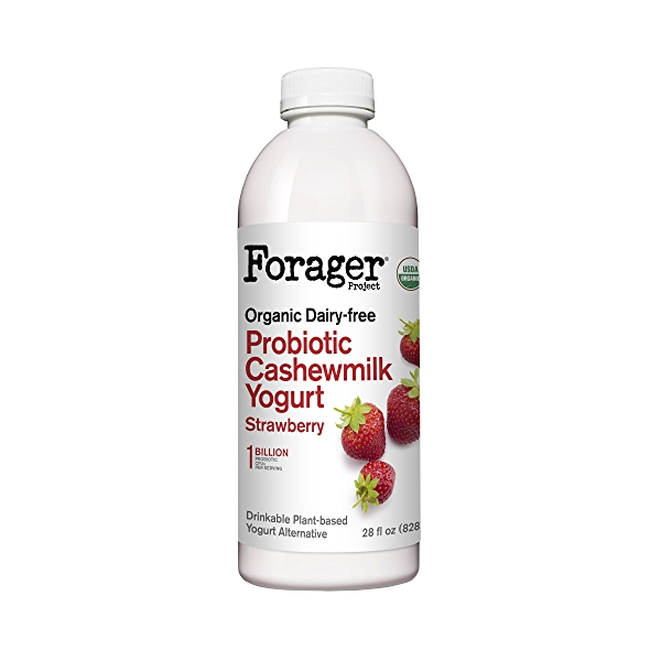 Organic Dairy-Free Strawberry Probiotic Drinkable Cashewmilk Yogurt, 28 fl oz 1