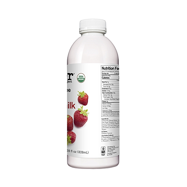 Organic Dairy-Free Strawberry Probiotic Drinkable Cashewmilk Yogurt, 28 fl oz 2