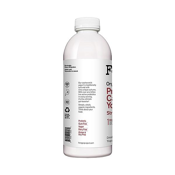 Organic Dairy-Free Strawberry Probiotic Drinkable Cashewmilk Yogurt, 28 fl oz 3