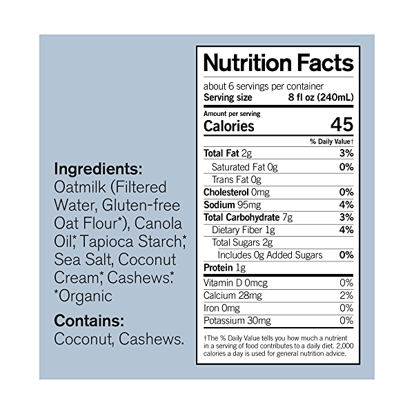 Organic Unsweetened Oatmilk, 48 fl oz 4