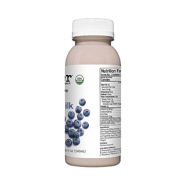 Organic Dairy-Free Blueberry Probiotic Drinkable Cashewmilk Yogurt, 8 fl oz 2
