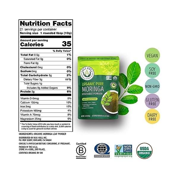Moringa Vegetable Powder, 7.4 oz 3