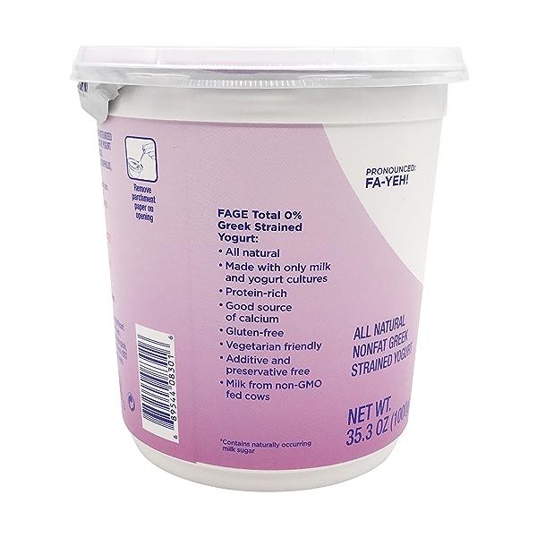 Total 0% Plain Greek Yogurt, 35.3 oz 3