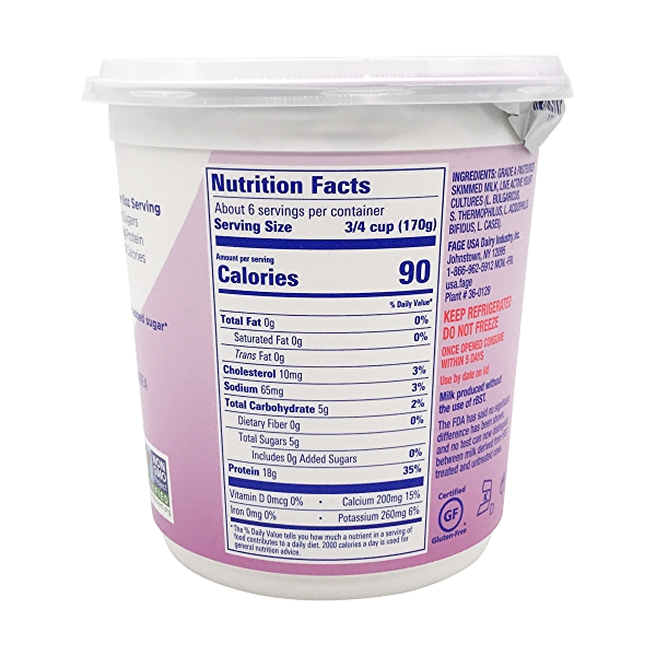 Total 0% Plain Greek Yogurt, 35.3 oz 5