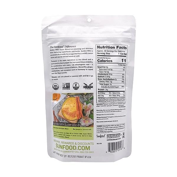 Organic Golden Milk Super Blend, 6 oz 2