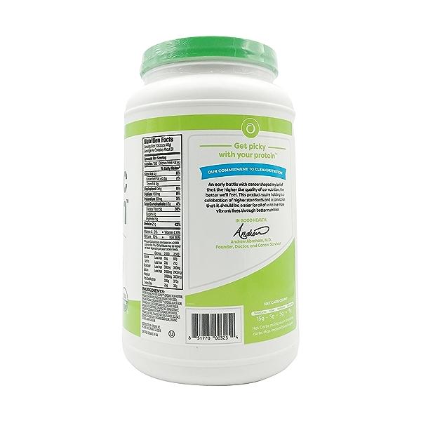 Sweet Vanilla Bean Organic Plant Based Protein Powder, 2.03 lbs 2