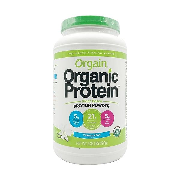 Sweet Vanilla Bean Organic Plant Based Protein Powder, 2.03 lbs 1
