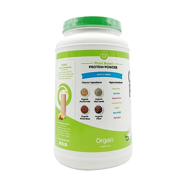 Sweet Vanilla Bean Organic Plant Based Protein Powder, 2.03 lbs 3