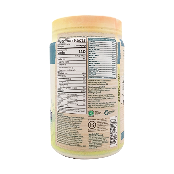 Unflavored - No Stevia Raw Organic Protein, 19.75 oz 2