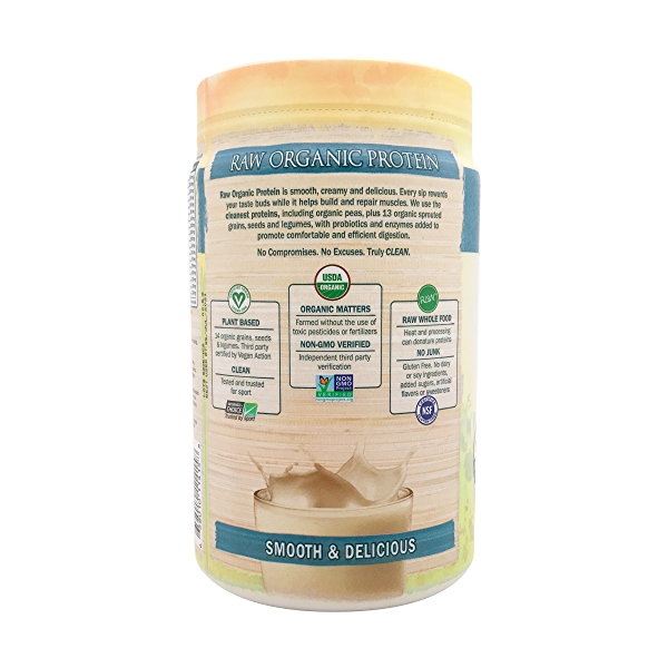 Unflavored - No Stevia Raw Organic Protein, 19.75 oz 3