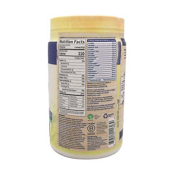 Vanilla Raw Organic Protein, 21.86 oz 2