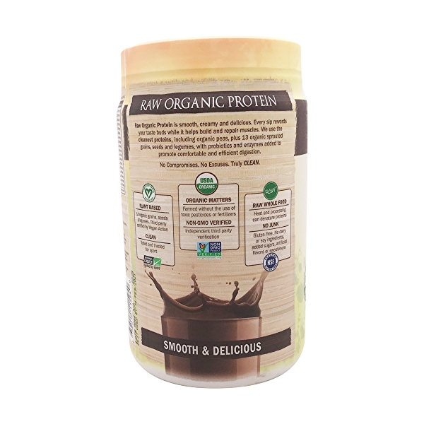 Chocolate Raw Organic Protein, 23.28 oz 3