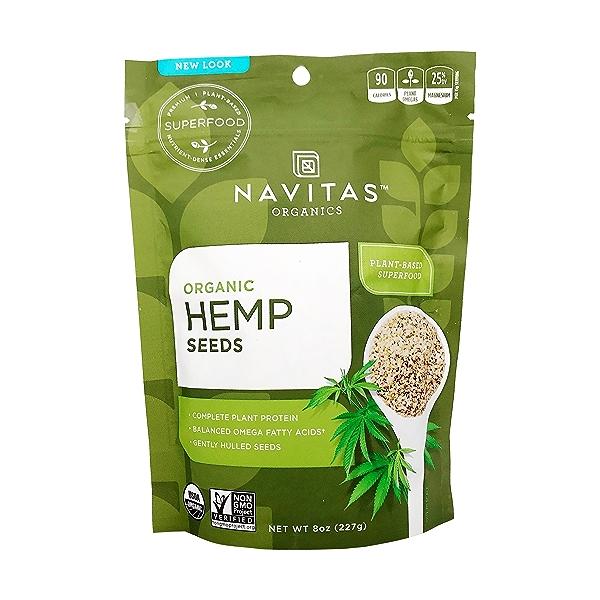 Organic Hemp Seeds, 8 Oz 1