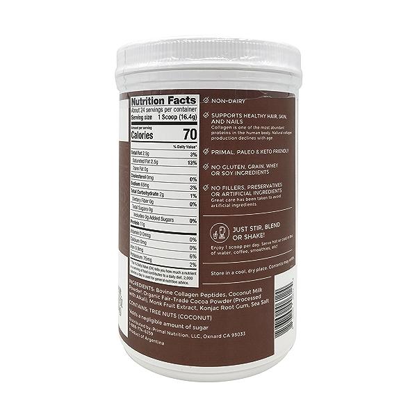 Chocolate Coconut Collagen Protein, 13.89 oz 2