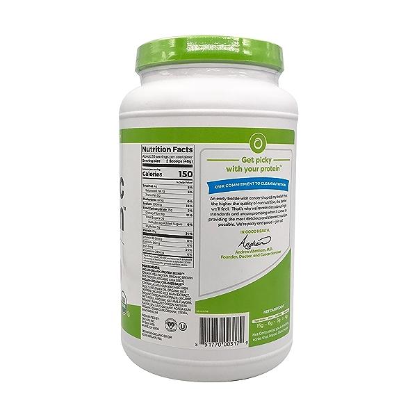 Creamy Chocolate Fudge Organic Protein Powder, 2.03 lb 2