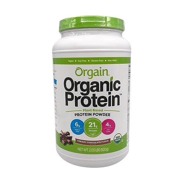 Creamy Chocolate Fudge Organic Protein Powder, 2.03 lb 1