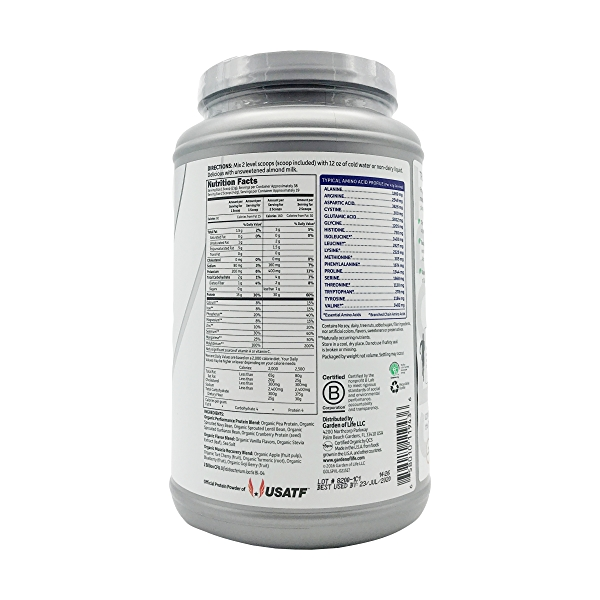 Organic Vanilla Sport Protein Powder, 28.4 oz 2