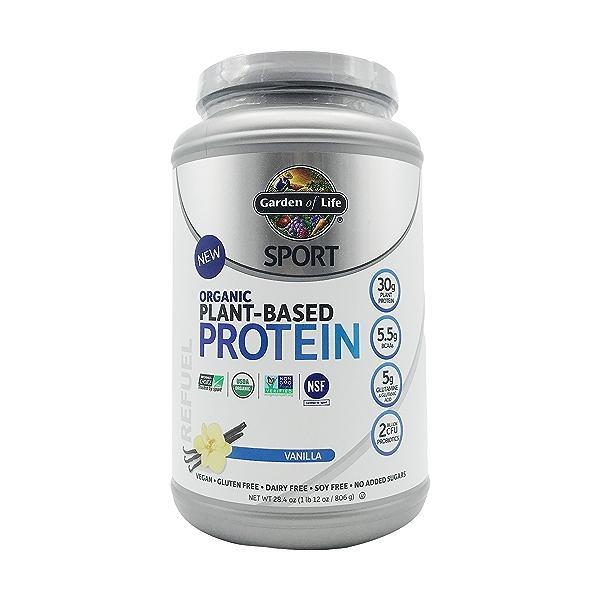 Organic Vanilla Sport Protein Powder, 28.4 oz 1