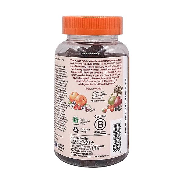 Organic Mykind Kids Multi Gummies Fruit, 120 vegan gummy bears 3