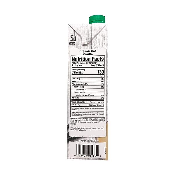 Organic Vanilla Oat Non-Dairy Beverage, 32 fl oz 3