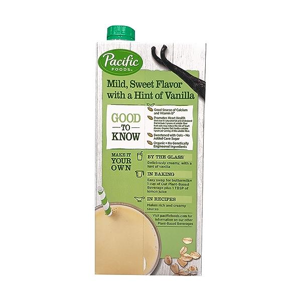 Organic Vanilla Oat Non-Dairy Beverage, 32 fl oz 4
