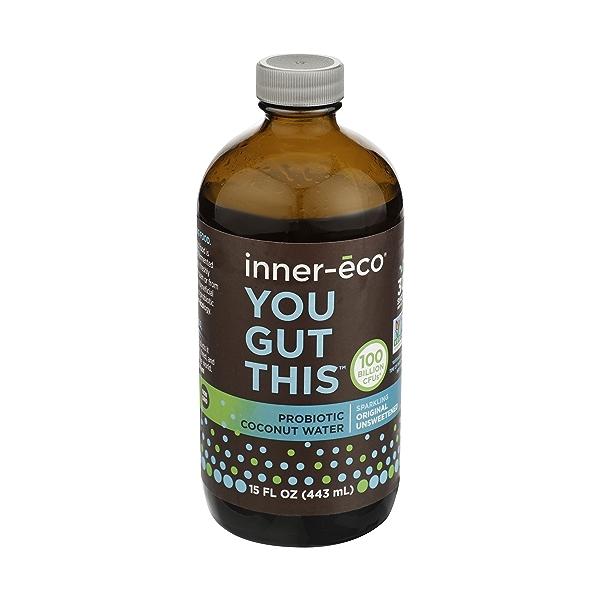 Original Plain Fresh Coconut Water Probiotic, 15 fl oz 1
