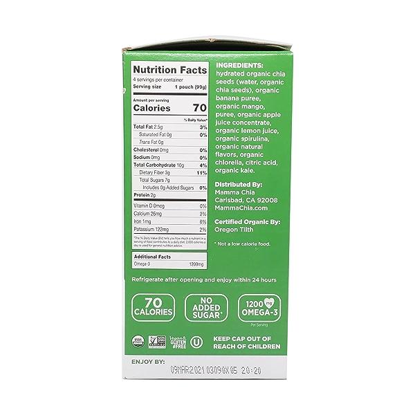 Green Magic Chia Squeeze Vitality Snacks (4 Pk), 14 oz 2