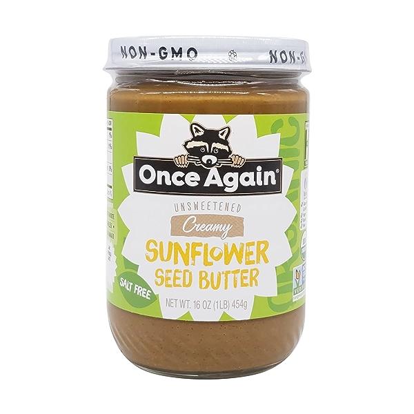 Unsweetened & Salt Free Organic Sunflower Seed Butter, 16 oz 1