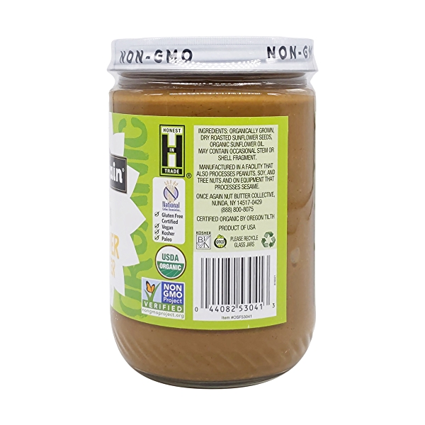 Unsweetened & Salt Free Organic Sunflower Seed Butter, 16 oz 3